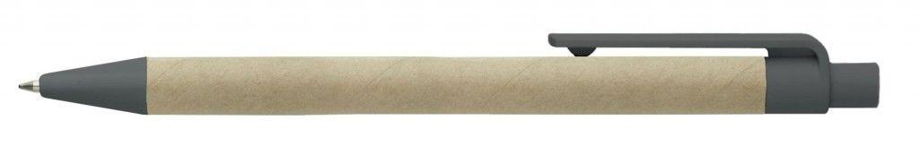 Eco Retract (Cardboard) Black Clip Retractable Pen