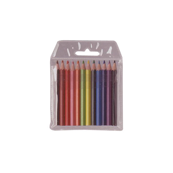 Colourworld Half Size Pencil Crayons - Pack Of 12 (mixed)